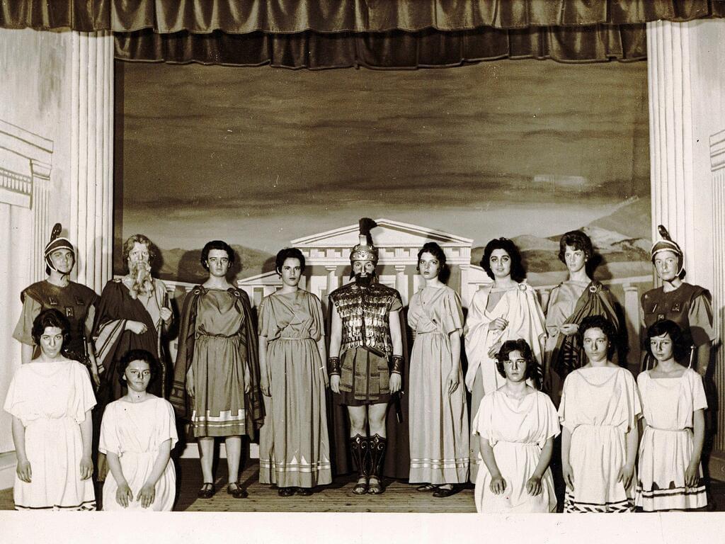 Photo 1 - Antigone 1960 production at Harrogate Ladies' College