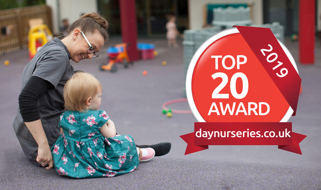 Abbot's Hill Nursery celebrates Top 20 Recommended Day Nursery award