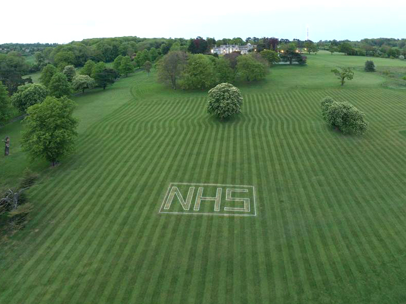 Abbot's Hill School celebrates NHS on their Front Lawn