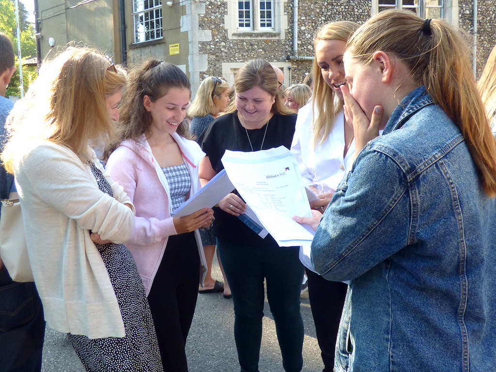 Abbot's Hill girls celebrate fantastic GCSE Results