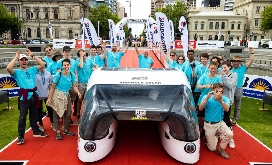 Solar Car finishes in Adelaide