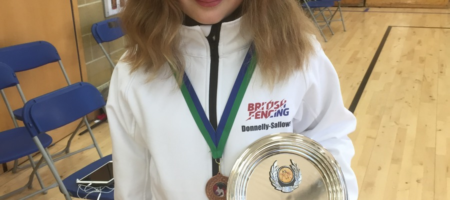 Fencing Champion at Arms, Keira Donnelly-Sallows