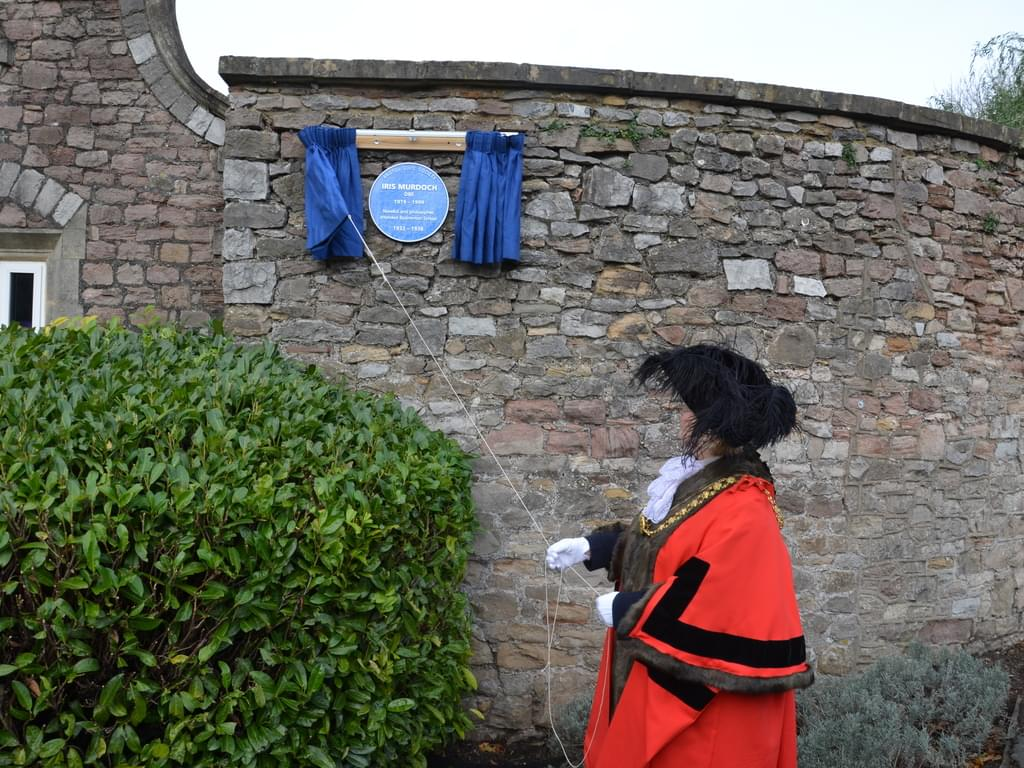 Badminton School Unveils Blue Plaque for Dame Iris Murdoch DBE