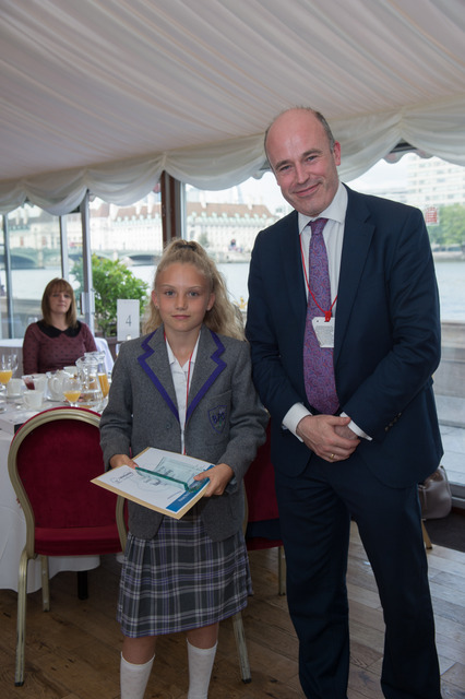Isabella Hurley (left) receiving her award from United Learning CEO Jon Coles