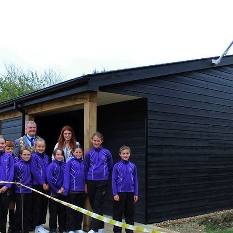 Banstead Prep School New Sports Pavilion Lauren Steadman Reigate Banstead Mayor
