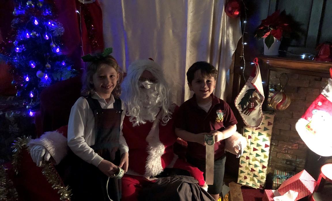 Father Christmas visits Barrow Hills 061219