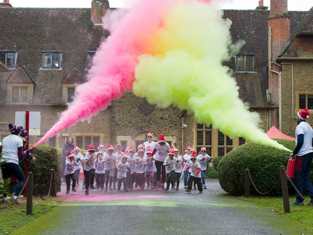 Colour Run at Barrow Hills School 211220