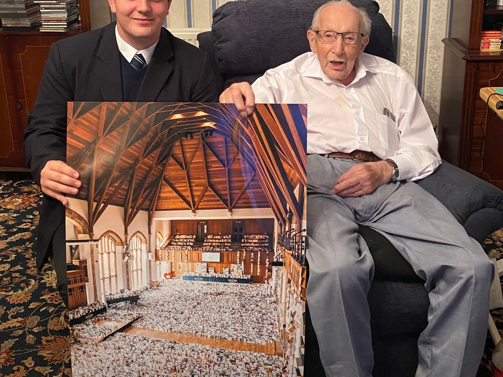 Benjie Ingram Moore and his grandfather Captain Sir Tom landscape
