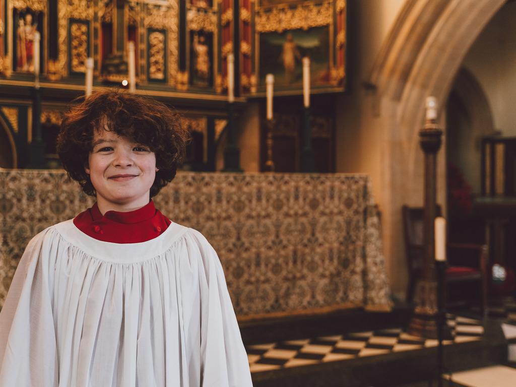 Alex Olleson in Bedford School Chapel D