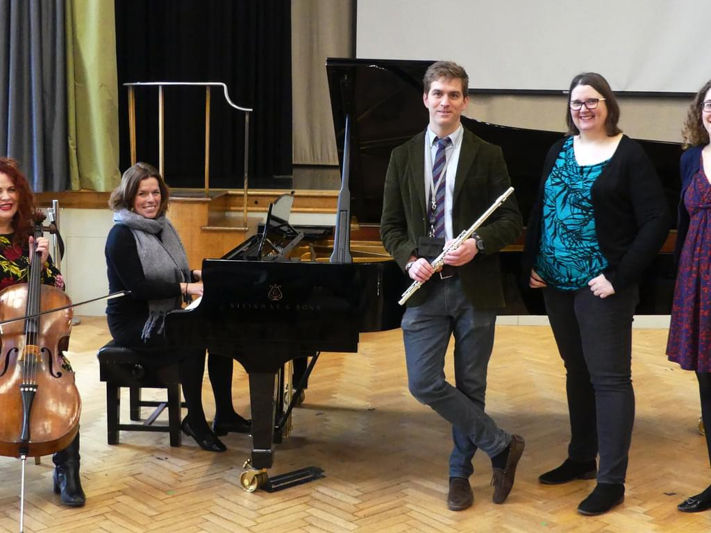 Bedford Girls' School staff performing at Bedfordshire Festival