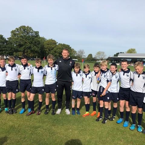 Bedford Prep U12 Rugby Team with Dylan Hartley