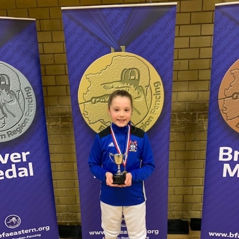 Ava from Beechwood Park takes Gold in the U12 Sabre