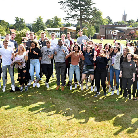 Bishop's Stortford College Upper Sixth students