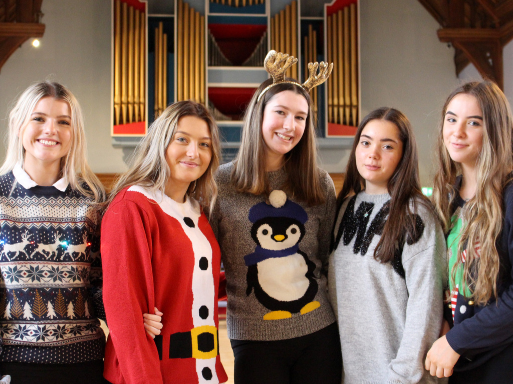 The Girls' Division Christmas Jumper Day helped to raise money for the 'Pringle Bells' Hamper Challenge