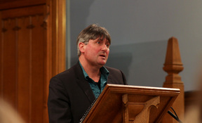 Simon Armitage gave a compelling performance of a range of his poems as part of the Poetry Festival