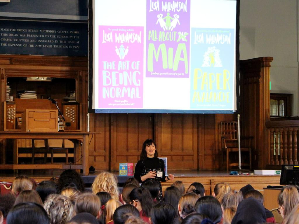 Lisa spoke to 350 pupils from six schools about her books