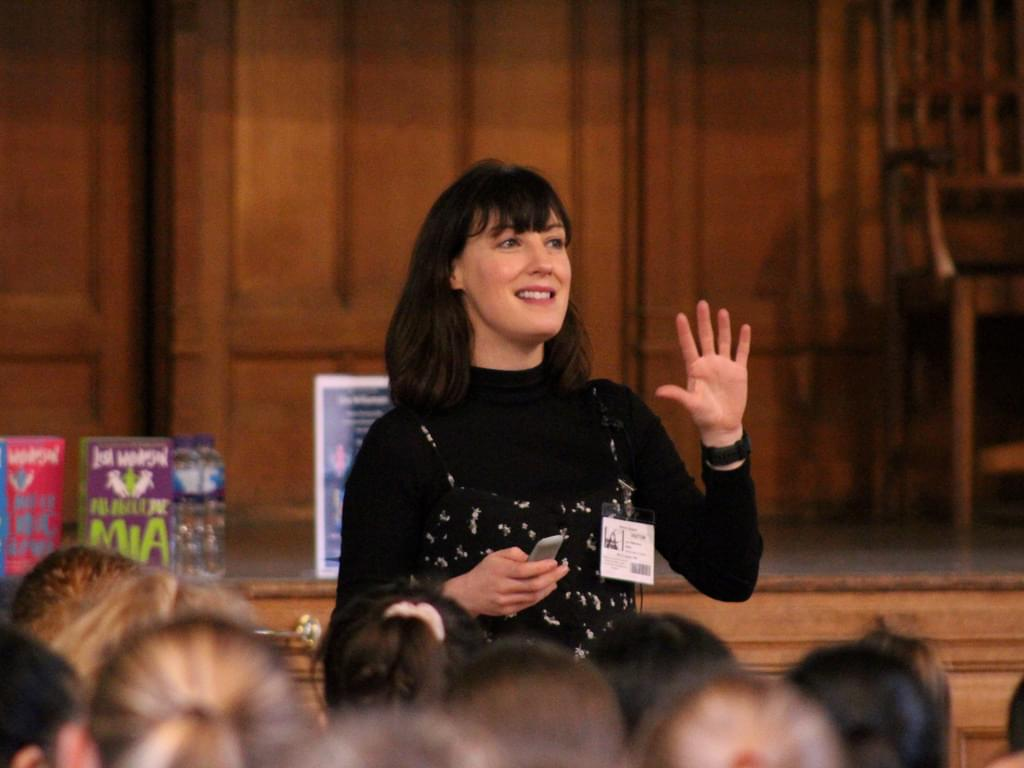 Lisa Williamson at her book tour event at Bolton School