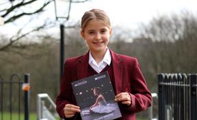 Aspiring ballet dancer Miley Sharpe danced in the Birmingham Royal Ballet's 'Swan Lake Dreams'