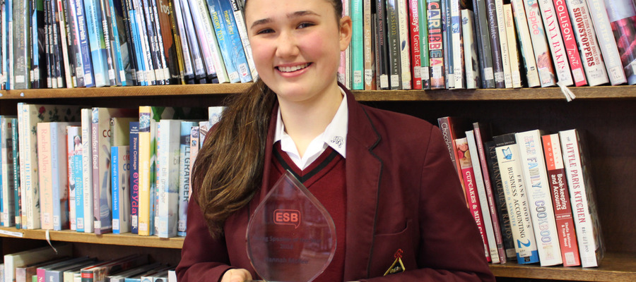 Hannah McKee has been named one of the English Speaking Board (ESB) Young Speakers of the Year 2018