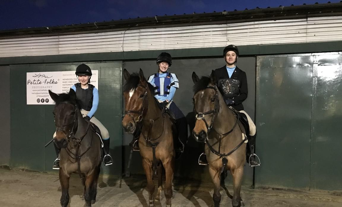 Brentwood Equestrian Team 105 SJ team Sophie Emma and Ben