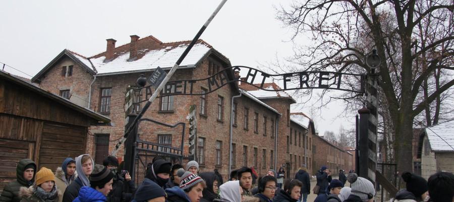 Brighton College pupils at Auschwitz