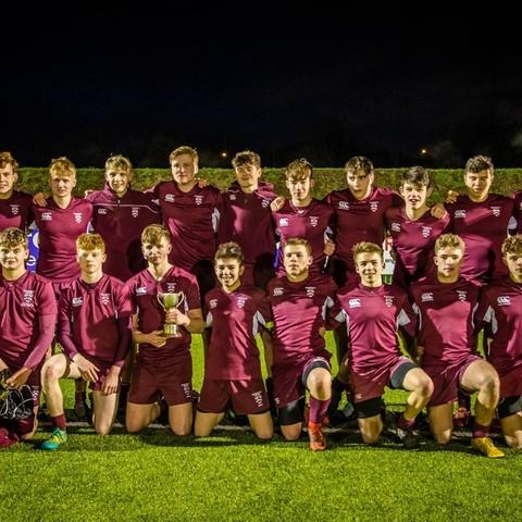 U16 rugby - winners of North Midlands Cup