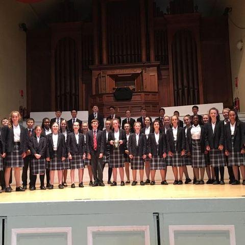 Prep and Senior Choristers - chelt festival U19 winners