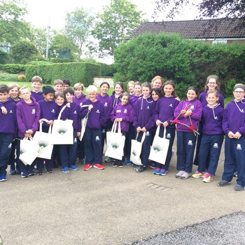 The Sandroyd pupils at Bruton School for Girls.