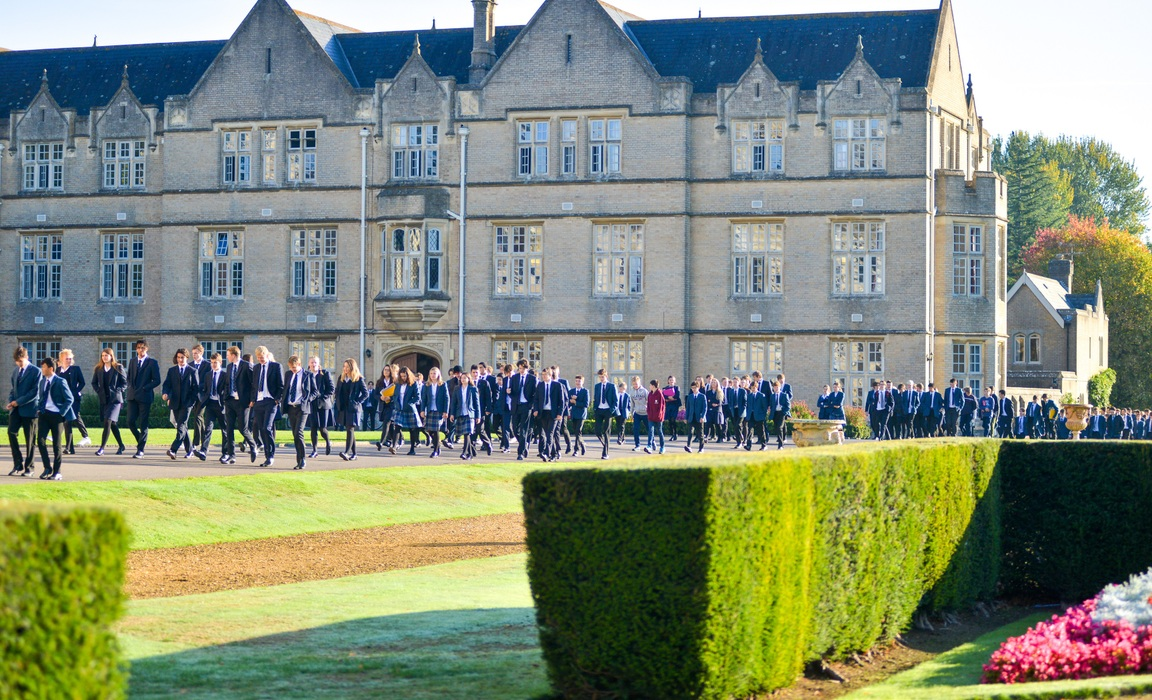 Canford School pupils