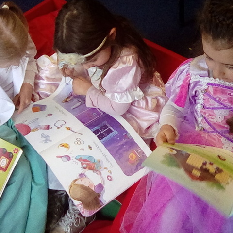 Reception children enjoyed 15 minutes of quiet reading