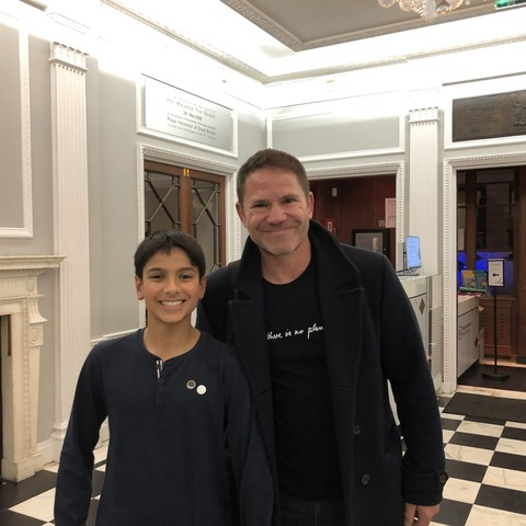 William Lall with Naturalist Steve Backshall