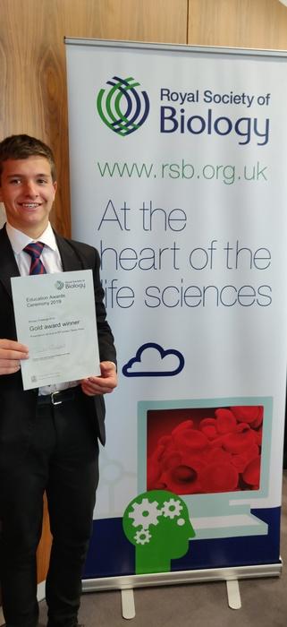 Josiah Wilson at Biology Awards