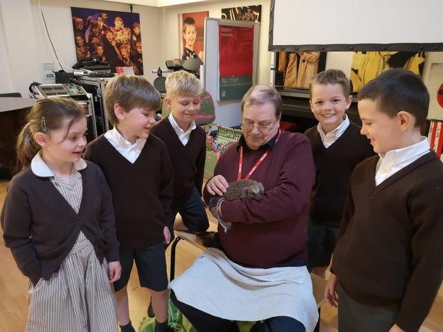Churcher's College Children with Hedgehog