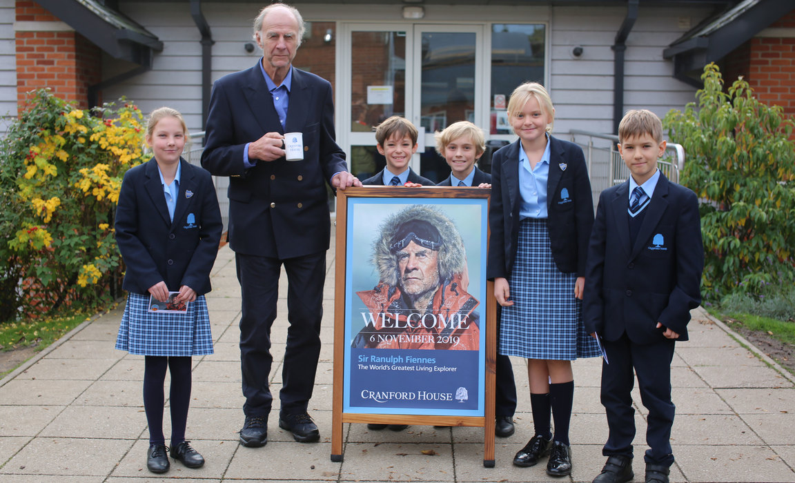 Sir Ranulph Fiennes meets with Junior School pupils