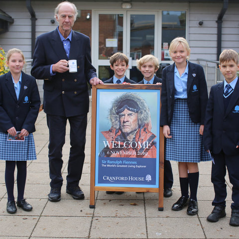 Sir Ranulph Fiennes meets with Junior School pupils