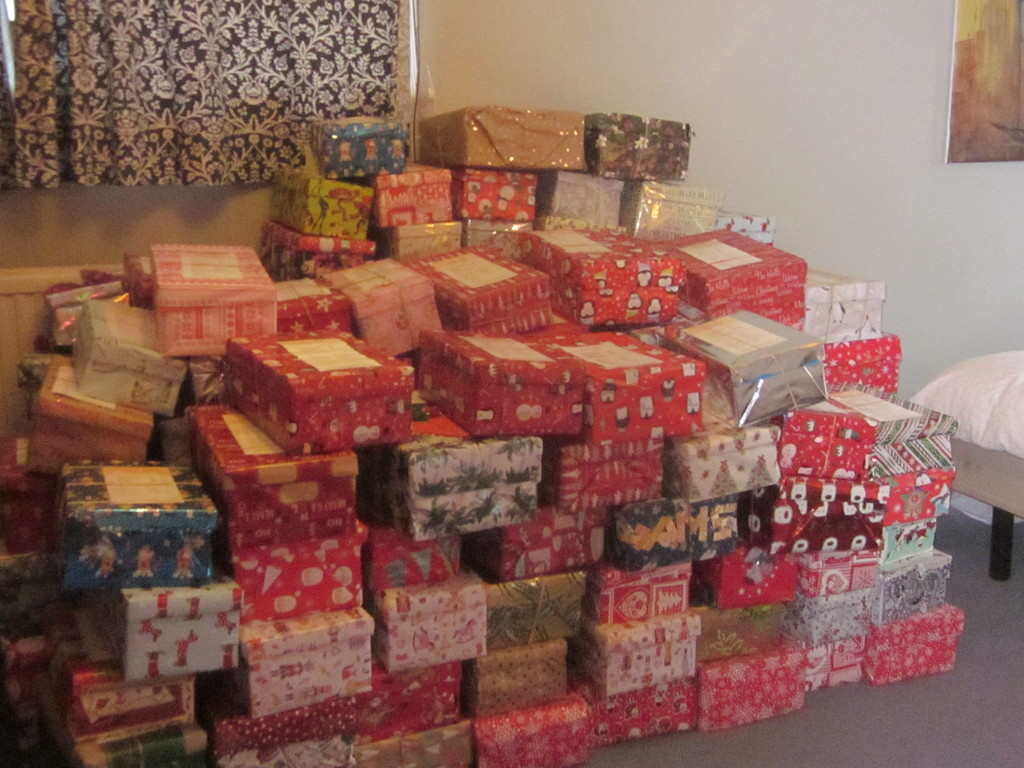 160 number shoeboxes, 2018