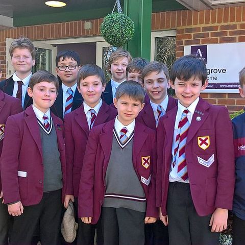Cranmore school council visit to local care home