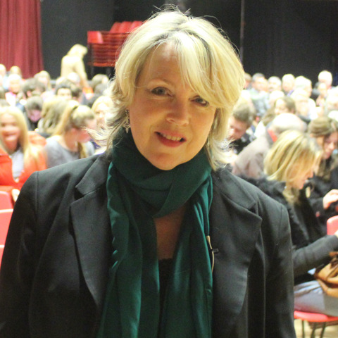 Jo Fairley, co-founder of Green & Black's Chocolate, at Dauntsey's