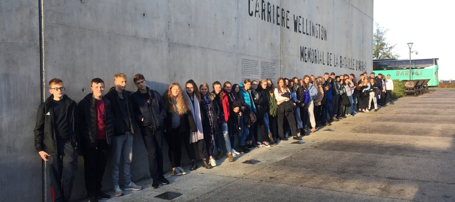Dauntsey's Pupils at the Carriere Wellington Museum in Arras