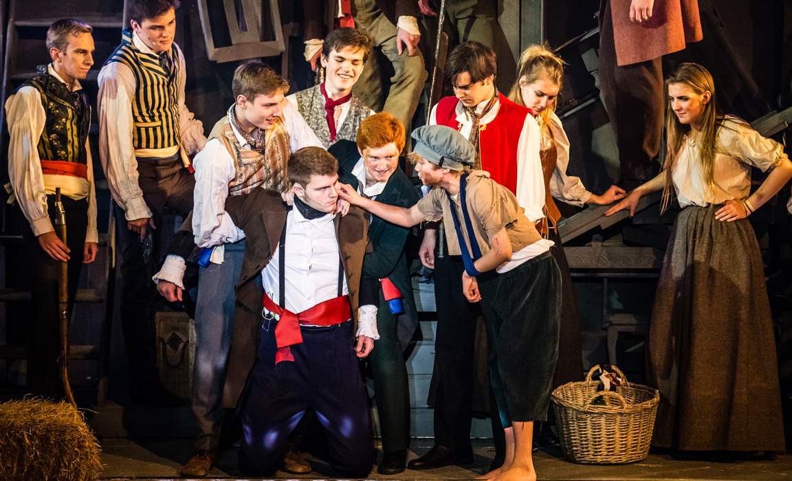 Pupils from Dauntsey's perform Les Miserables