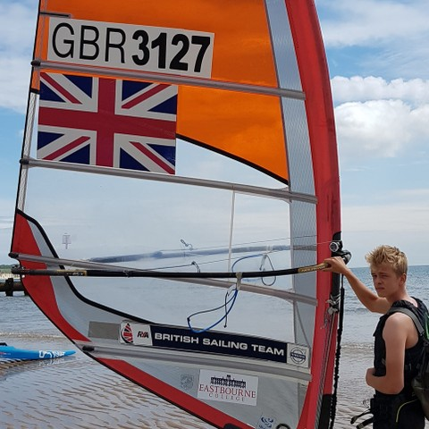 Sam with EC sponsored sail