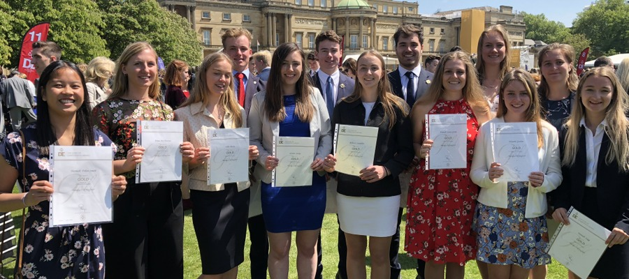 D of E Gold Award winners at Buckingham Palace_May 2018