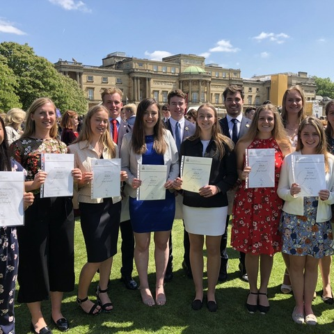 D of E Gold Award winners at Buckingham Palace_May 2018