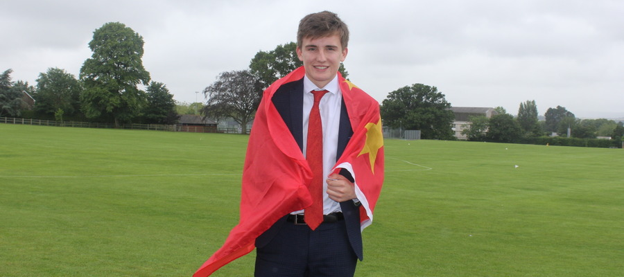 Exeter School pupil George Heard has been offered a three-week work placement in China by an alumnus