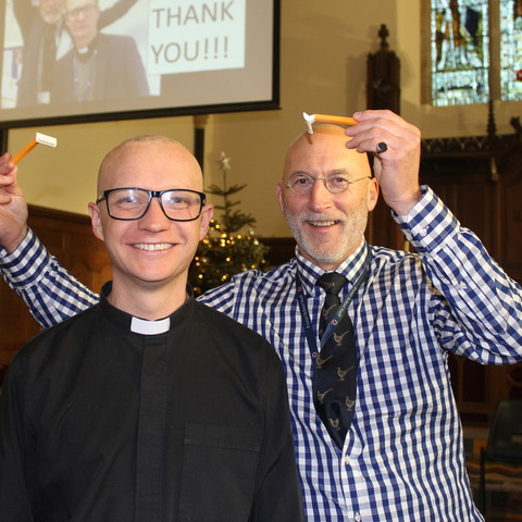 Revd Tom's head shave (2)