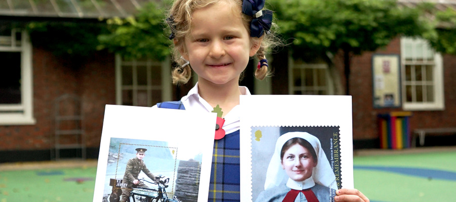 Martha with Stamps