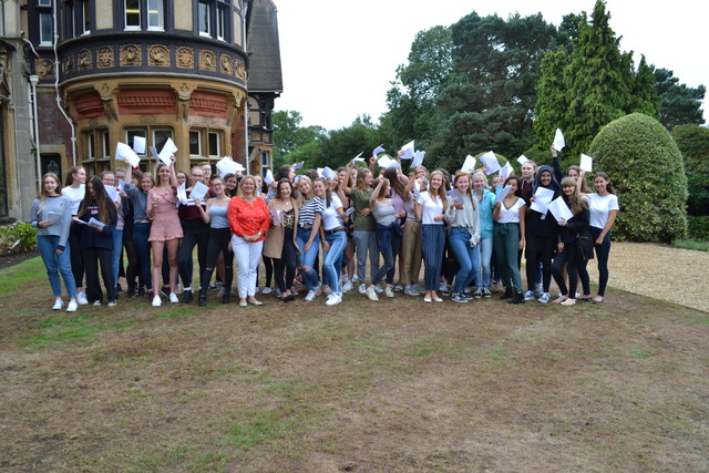 FARNBOROUGH HILL PUPILS' JOY AT OUTSTANDING RESULTS