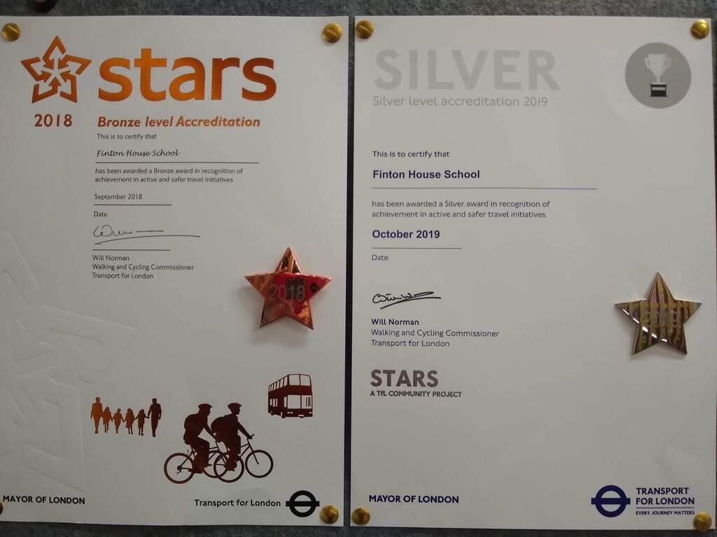 Finton House TfL STARS Certificates