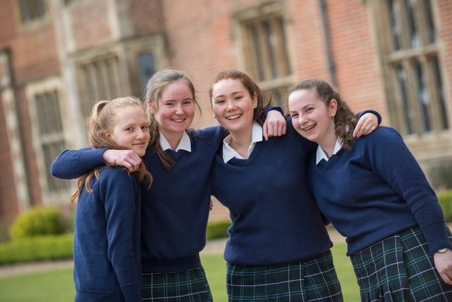 Girls at Benenden School celebrate their GCSEs