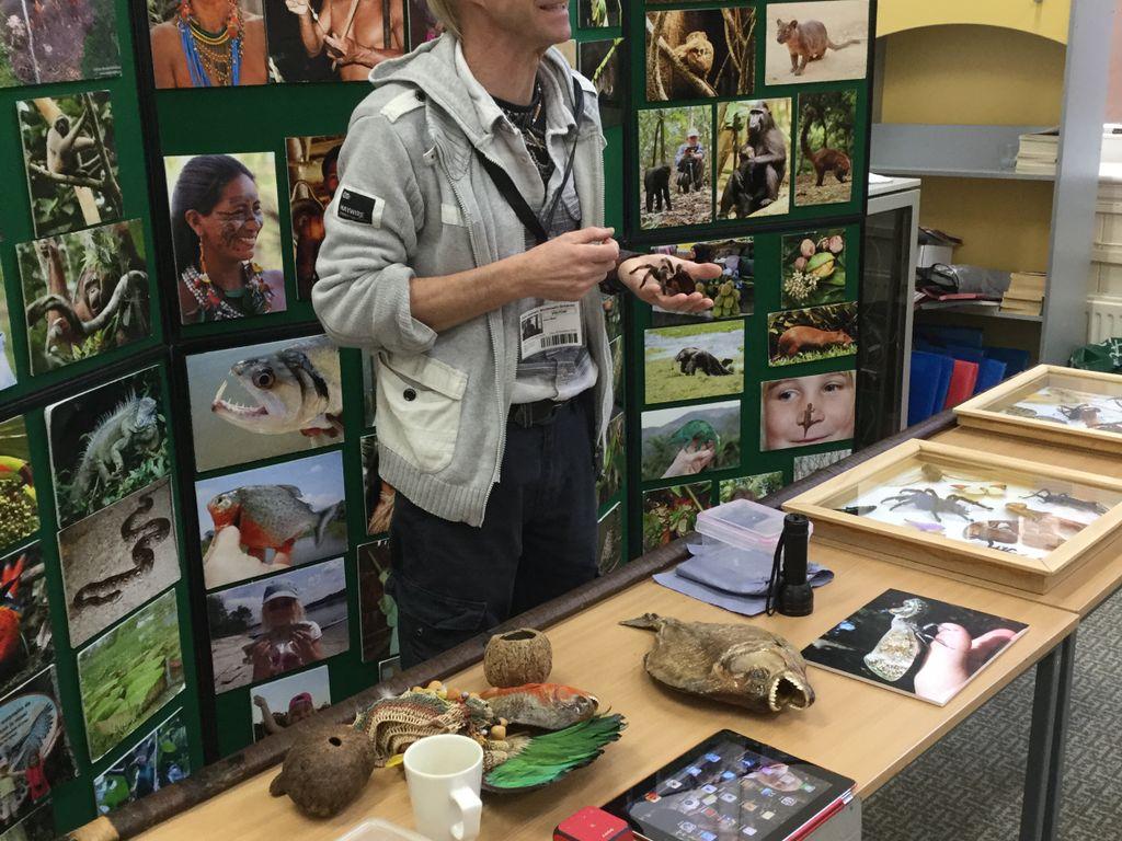 Tarantula, scorpion and Atlas beetle grub bring Amazon rainforest to Monmouth